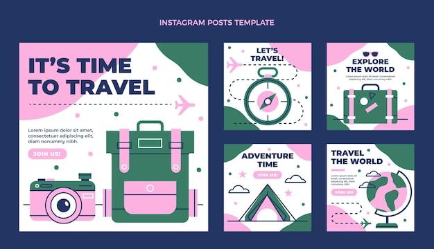 Platte ontwerp van reis ig post