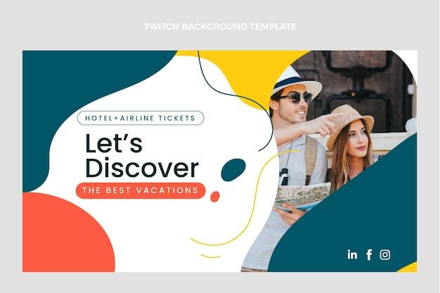 Platte ontwerp van reis twitch achtergrond