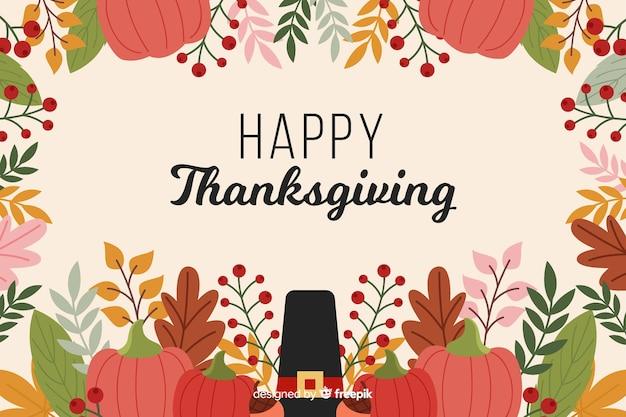 Platte ontwerp van thanksgiving achtergrond