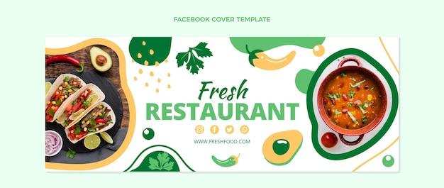 Platte ontwerp van voedsel facebook-omslag