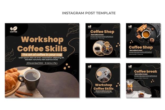 Platte ontwerp van voedsel instagram post
