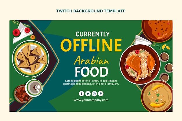 Platte ontwerp van voedsel twitch achtergrond
