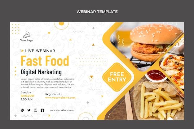 Platte ontwerp van voedsel webinary
