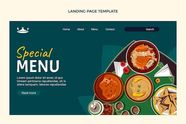 Platte ontwerp van voedsel