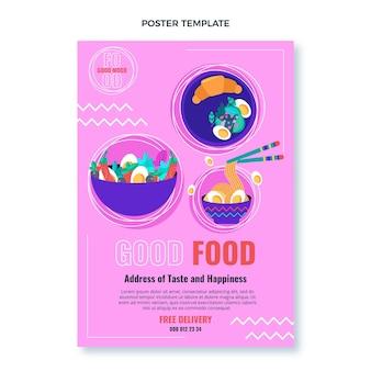 Platte ontwerp van voedselposter