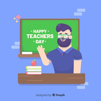 Platte ontwerp van wereld lerarendag