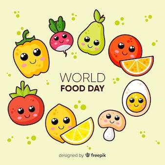 Platte ontwerp van wereldvoedseldag