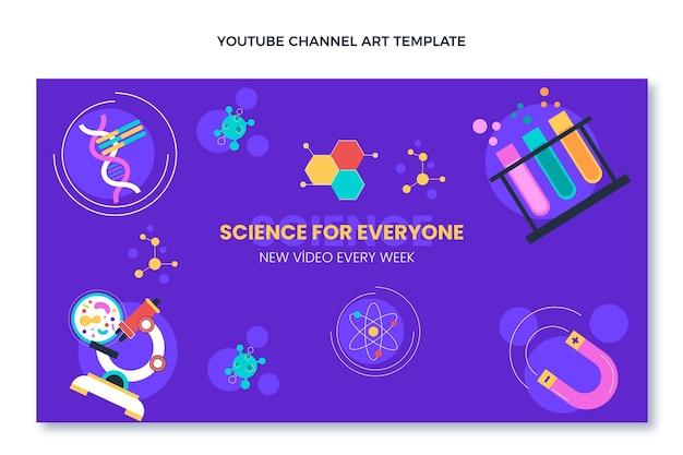 Platte ontwerp van wetenschap youtube kanaalkunst