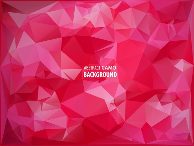 Platte ontwerp veelhoek van rode paasei geïsoleerd op driehoek achtergrond. vector illustratie. gelukkig paaskaart in hipster laag poly driehoek stijl. perfect voor wenskaart of elegante feestuitnodiging.