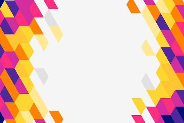 Platte ontwerp veelhoekige achtergrond