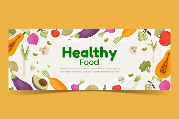 Platte ontwerp vegetarisch eten facebook cover