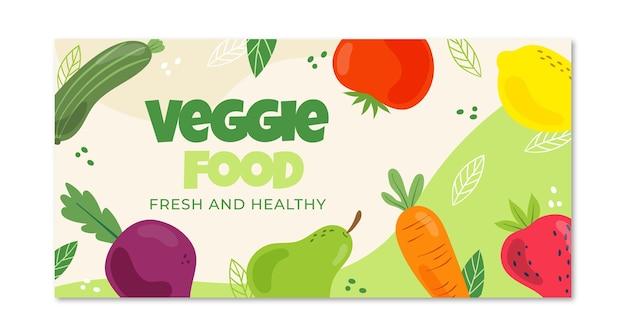 Platte ontwerp vegetarisch eten facebook post