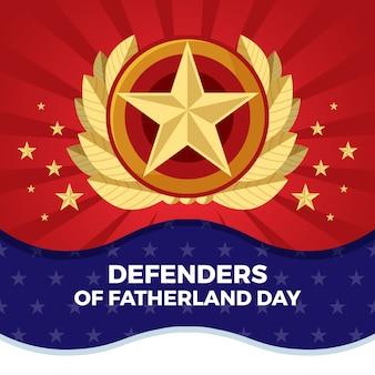 Platte ontwerp verdediger van het vaderland-dag