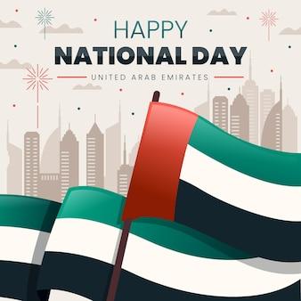 Platte ontwerp verenigde arabische emiraten nationale feestdag