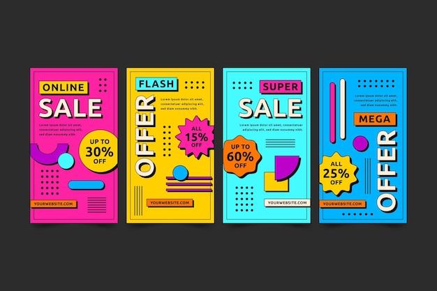 Platte ontwerp verkoop ig verhalen collectie