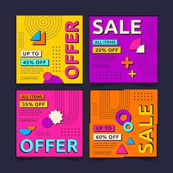 Platte ontwerp verkoop instagram postpakket