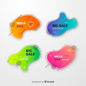 Platte ontwerp verkoop label collectie