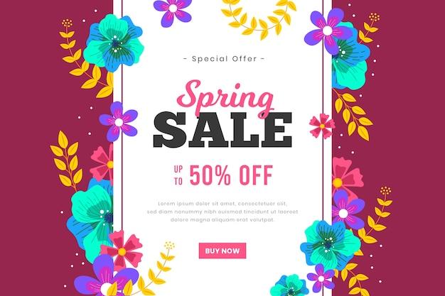 Platte ontwerp verkoop lente seizoen