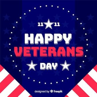 Platte ontwerp veteranen dag behang