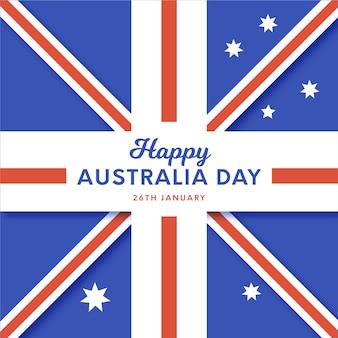Platte ontwerp vlag van australië dag