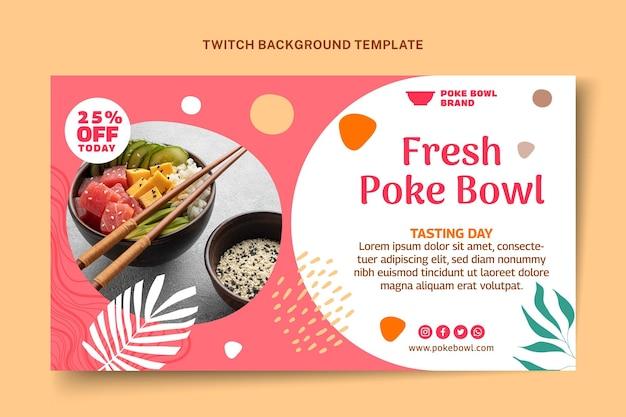 Platte ontwerp voedsel twitch achtergrond