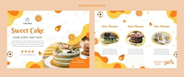 Platte ontwerp voedselbrochure