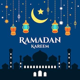 Platte ontwerp voor ramadanviering