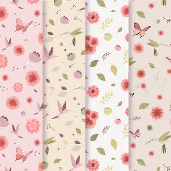 Platte ontwerp voorjaar patroon collectie