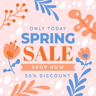Platte ontwerp voorjaar promotionele verkoop
