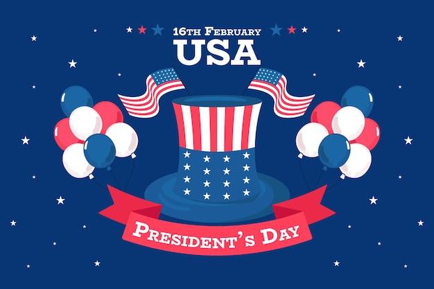 Platte ontwerp voorzitters dag evenement