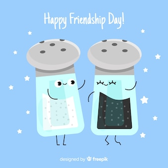 Platte ontwerp vriendschapsdag achtergrond