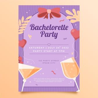 Platte ontwerp vrijgezellenfeest uitnodiging