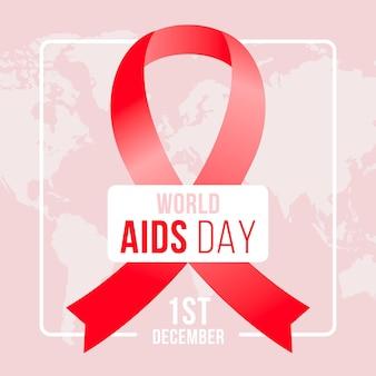 Platte ontwerp wereld aids dag
