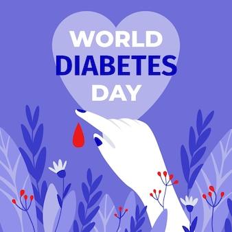 Platte ontwerp wereld diabetes dag