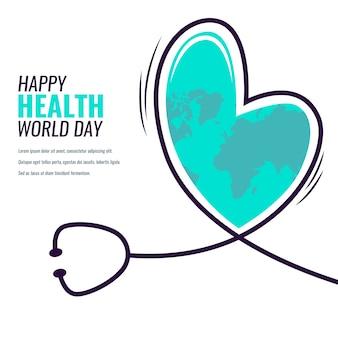Platte ontwerp wereld gezondheid dag evenement