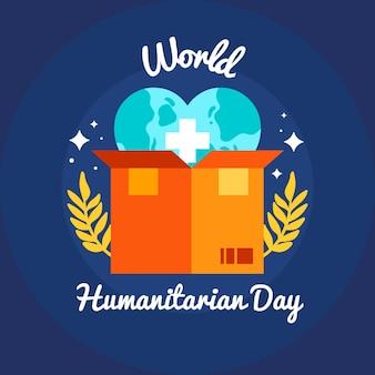 Platte ontwerp wereld humanitaire dag concept