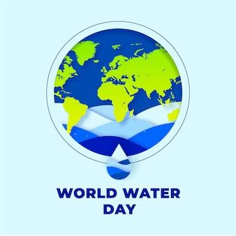 Platte ontwerp wereld water dag evenement