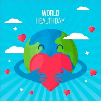 Platte ontwerp wereldgezondheidsdag