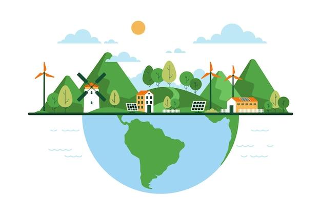 Platte ontwerp wereldhabitat dag