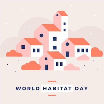 Platte ontwerp wereldhabitat dagviering