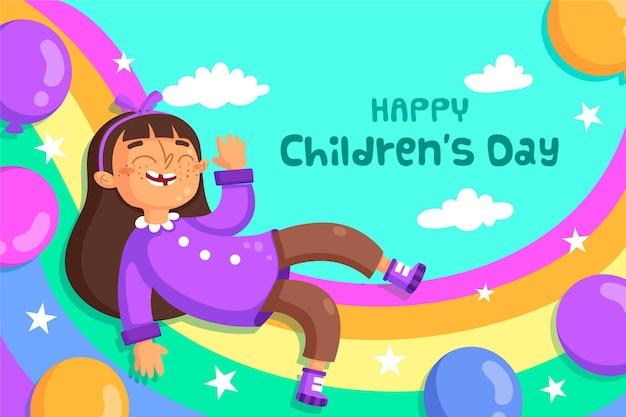 Platte ontwerp wereldkinderen dag