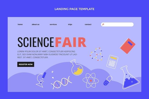 Platte ontwerp wetenschap bestemmingspagina