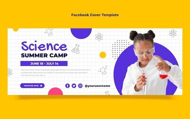 Platte ontwerp wetenschap facebook omslag