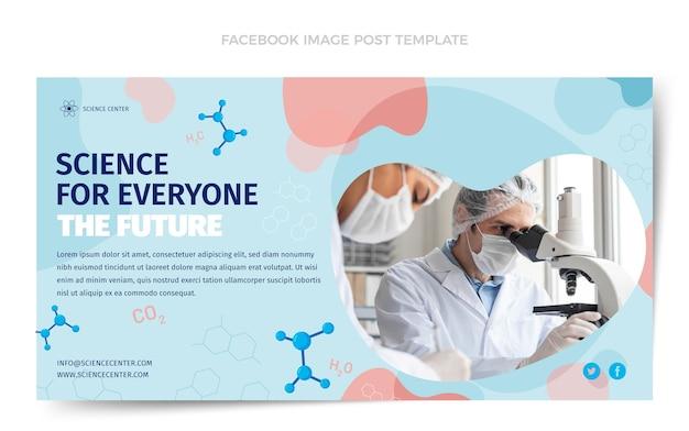 Platte ontwerp wetenschap facebook postsjabloon