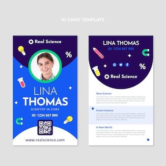Platte ontwerp wetenschap id-kaartsjabloon