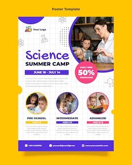 Platte ontwerp wetenschap poster