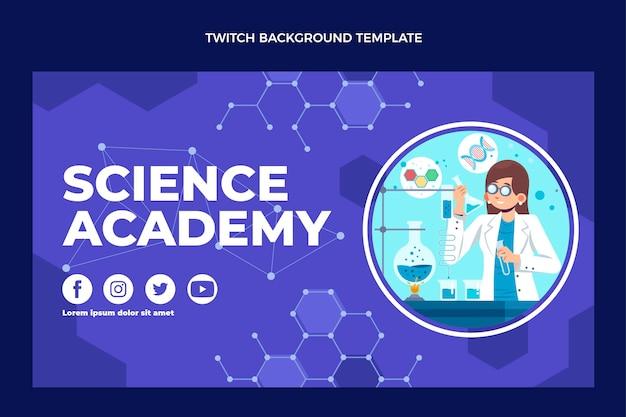 Platte ontwerp wetenschap twitch achtergrond