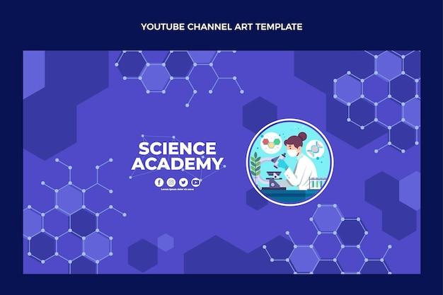 Platte ontwerp wetenschap youtube channel art