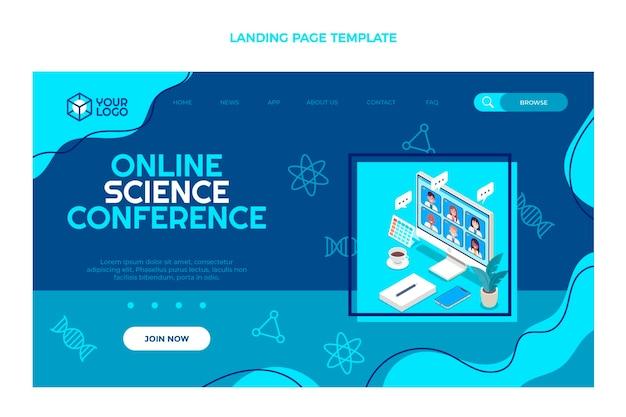 Platte ontwerp wetenschappelijke conferentie bestemmingspagina
