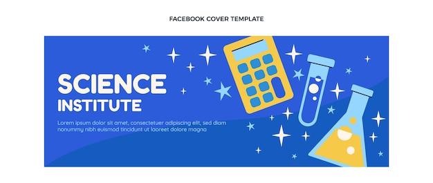 Platte ontwerp wetenschapsinstituut facebook omslag